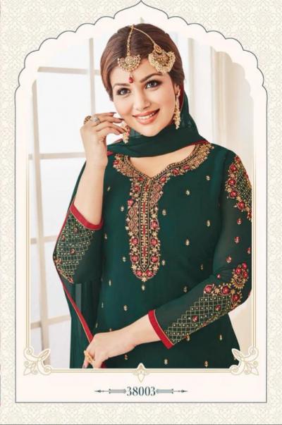 Green Georgette Sharara Dress