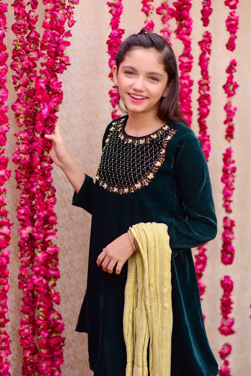 Pakistani-kids-clothes-velvet-formal-wear
