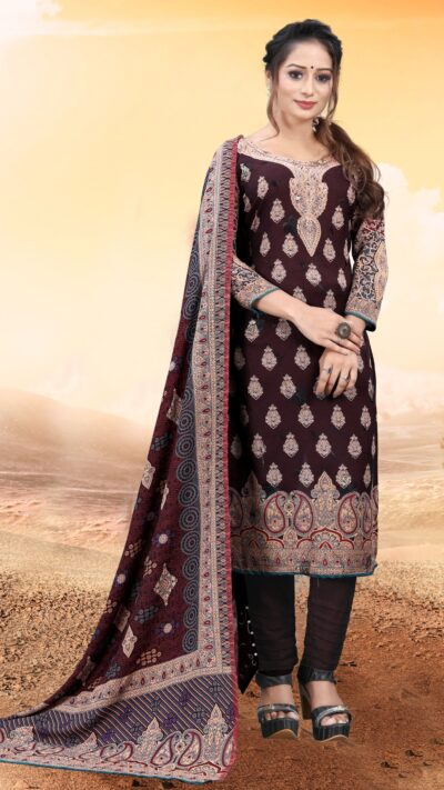 ALPINE WINTER EMBROIDERED SUIT WITH SHAWL 27